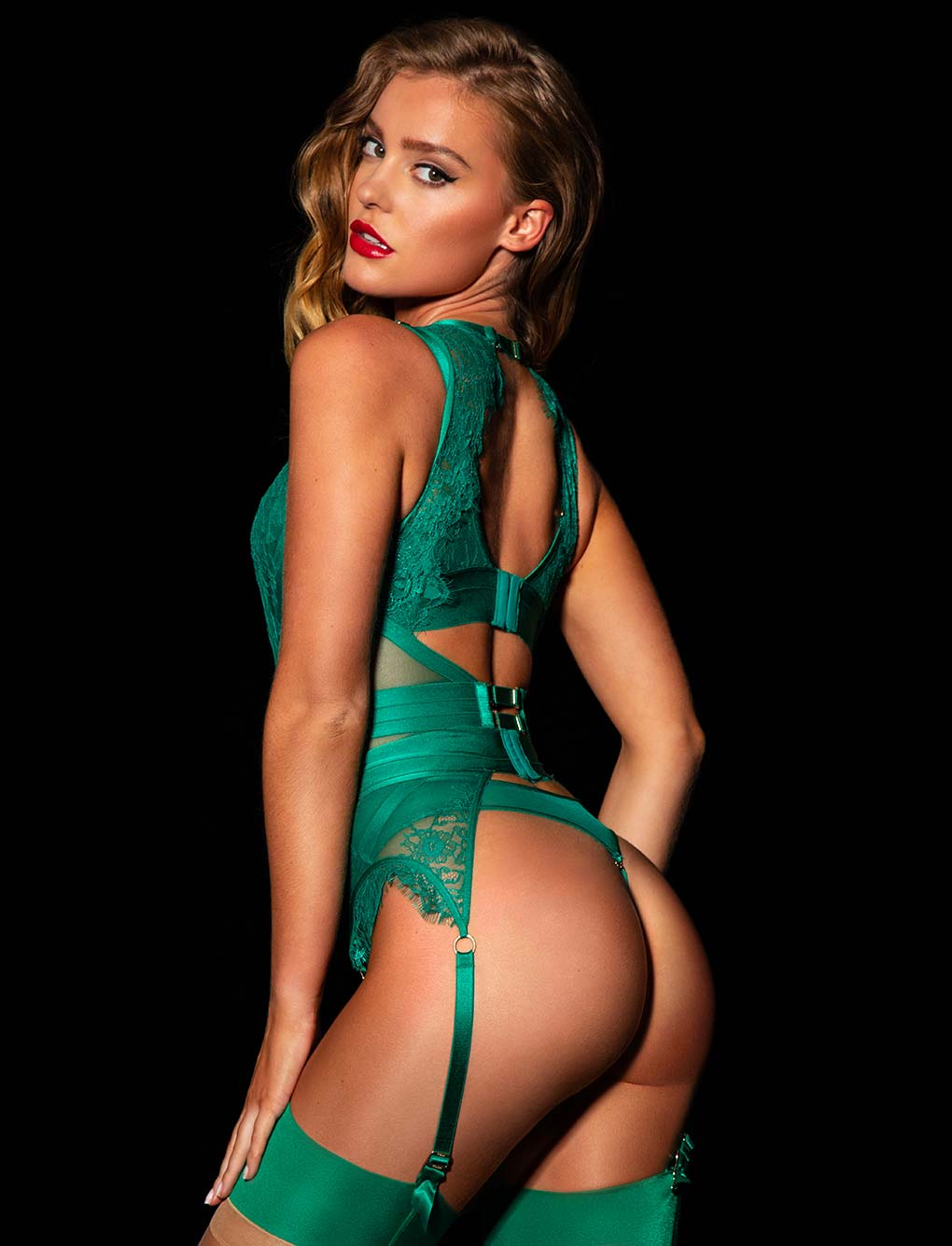 Belinda Emerald Bodysuit Set