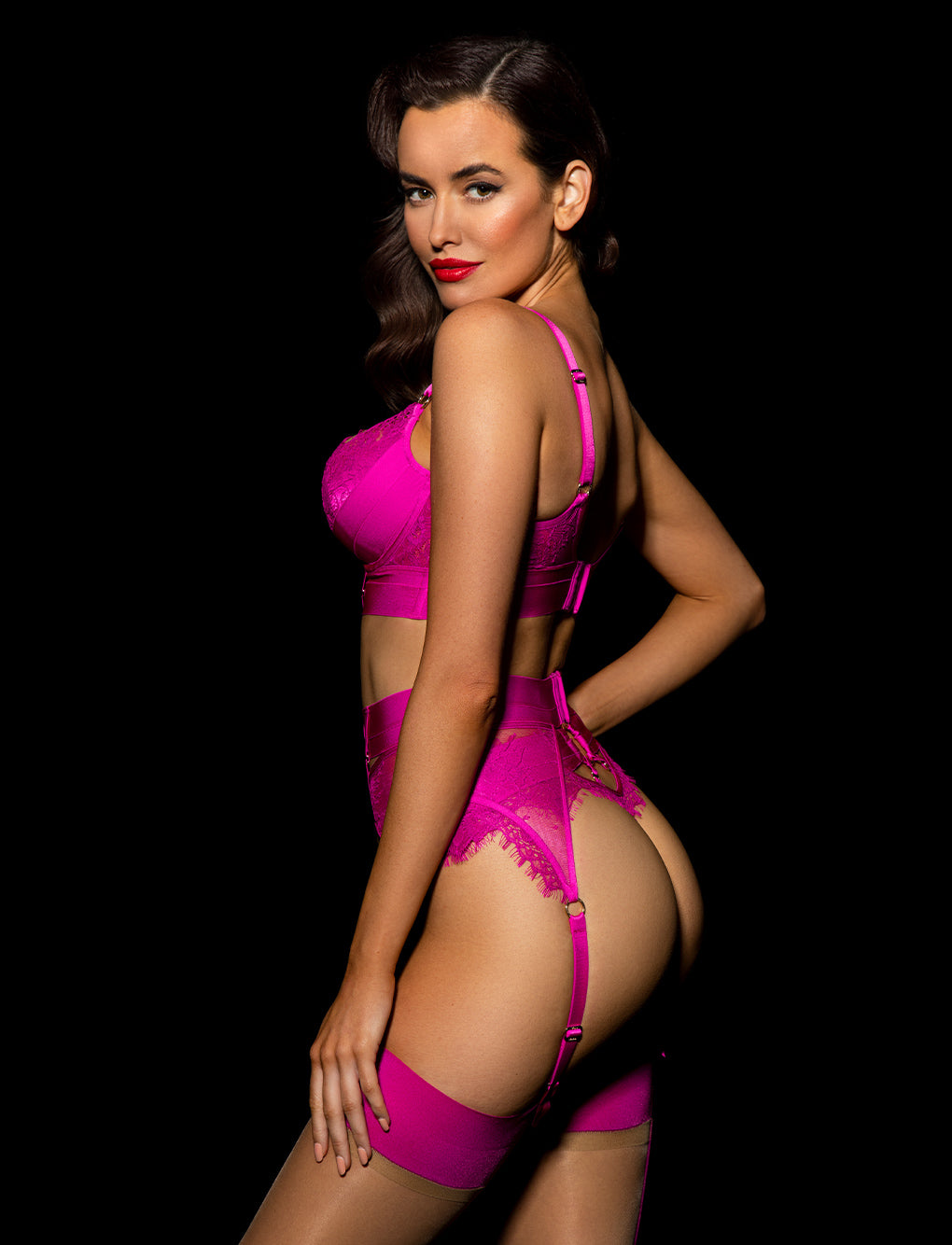Belinda Hot Pink Push Up Bra