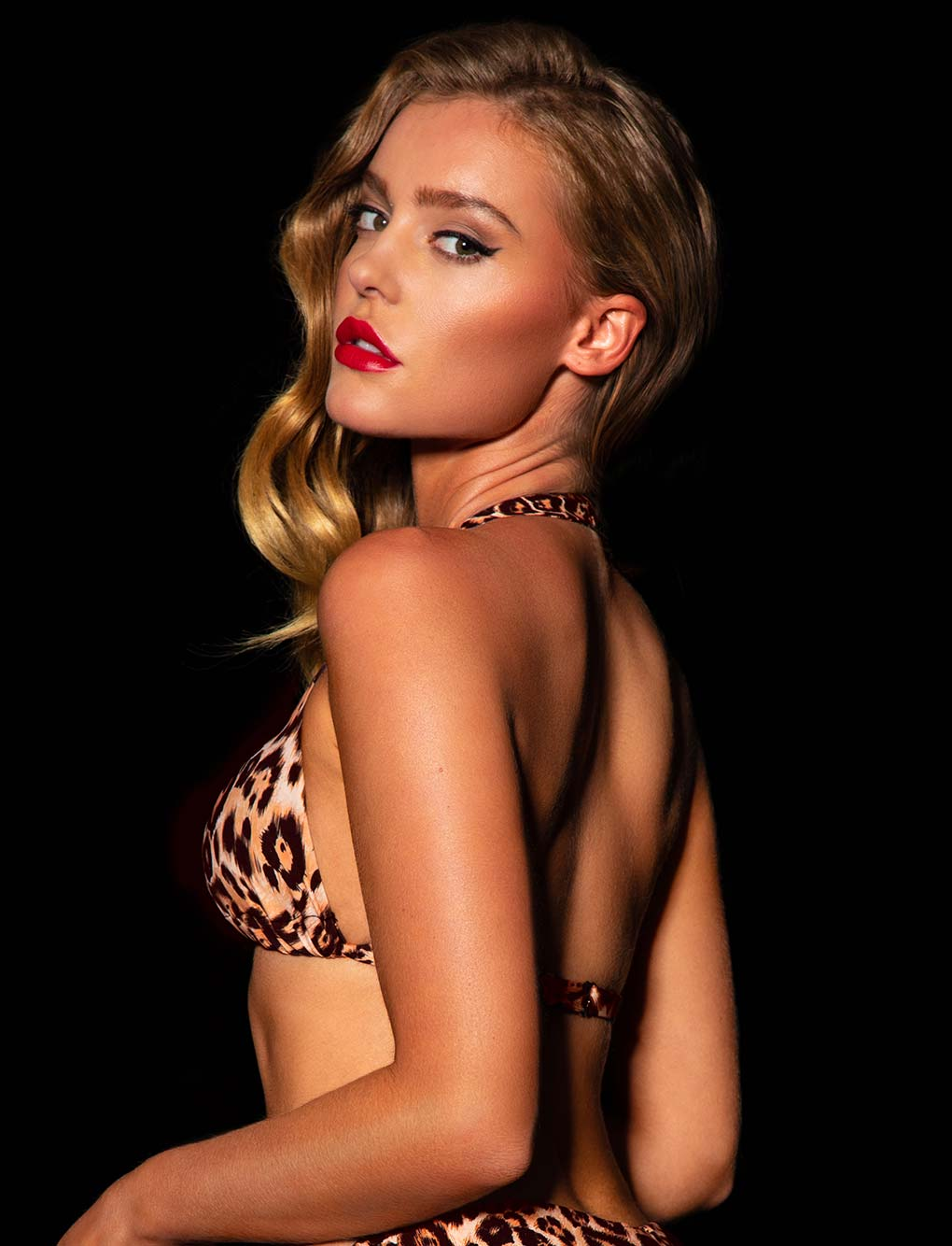 Dakota Leopard Bikini Top | Shop Swimwear | Honey Birdette