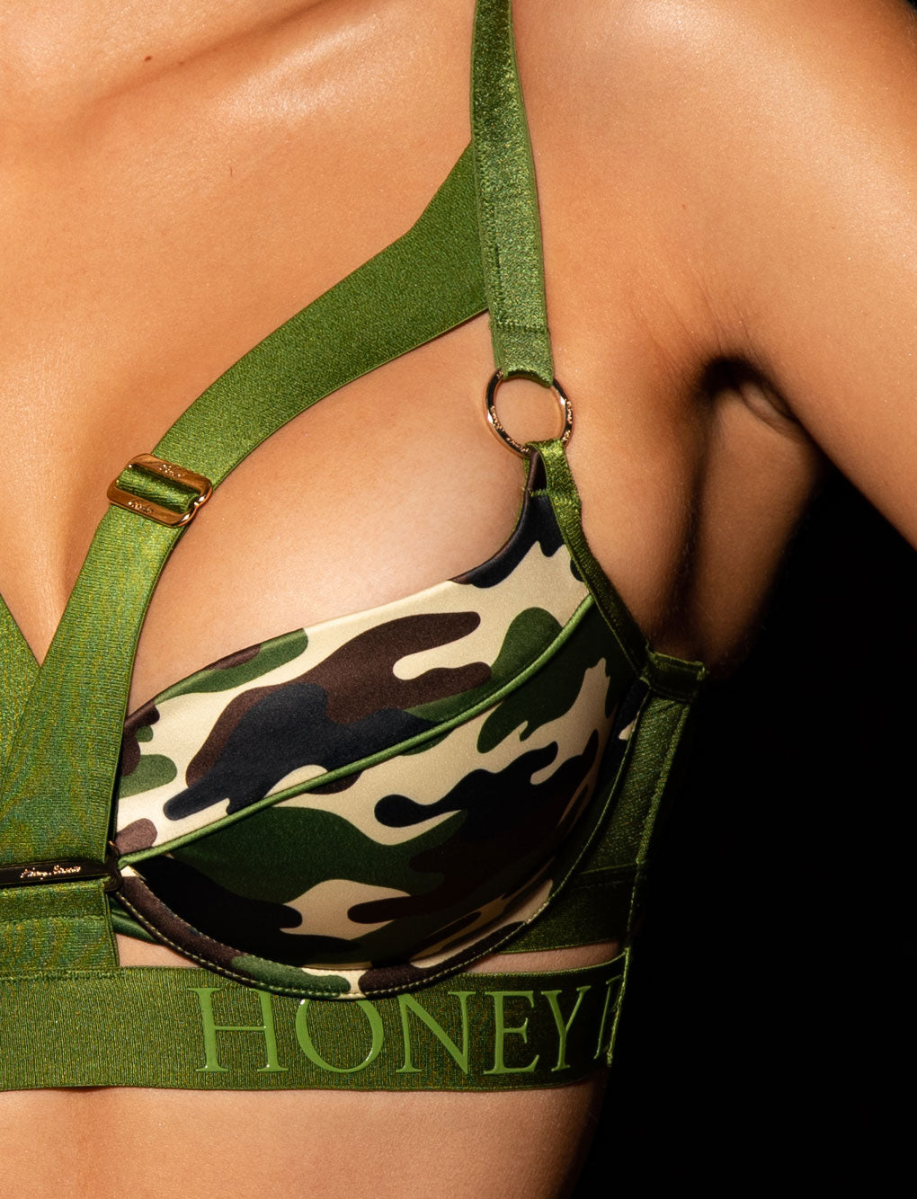 Elvis Camo Push Up Bra