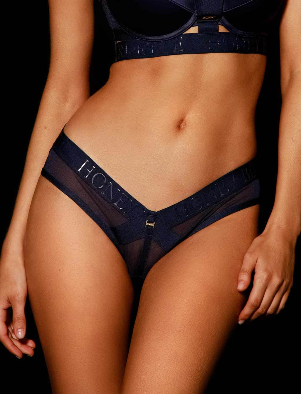 Elvis Navy Blue Lingerie Set - Shop  Lingerie | Honey Birdette