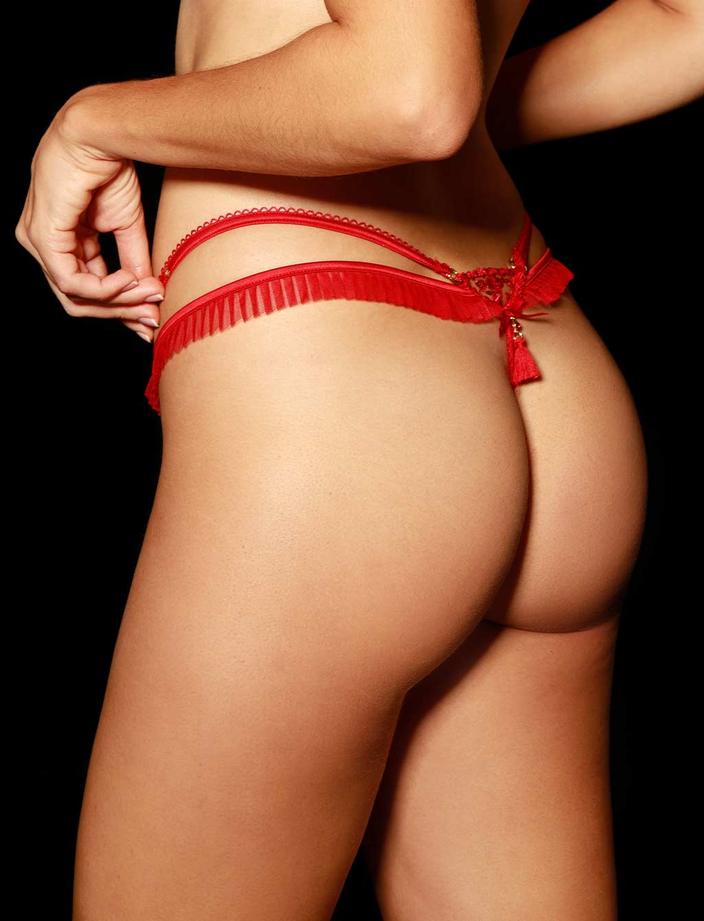 Frida Red Lace Thong - Shop Lingerie | Honey Birdette