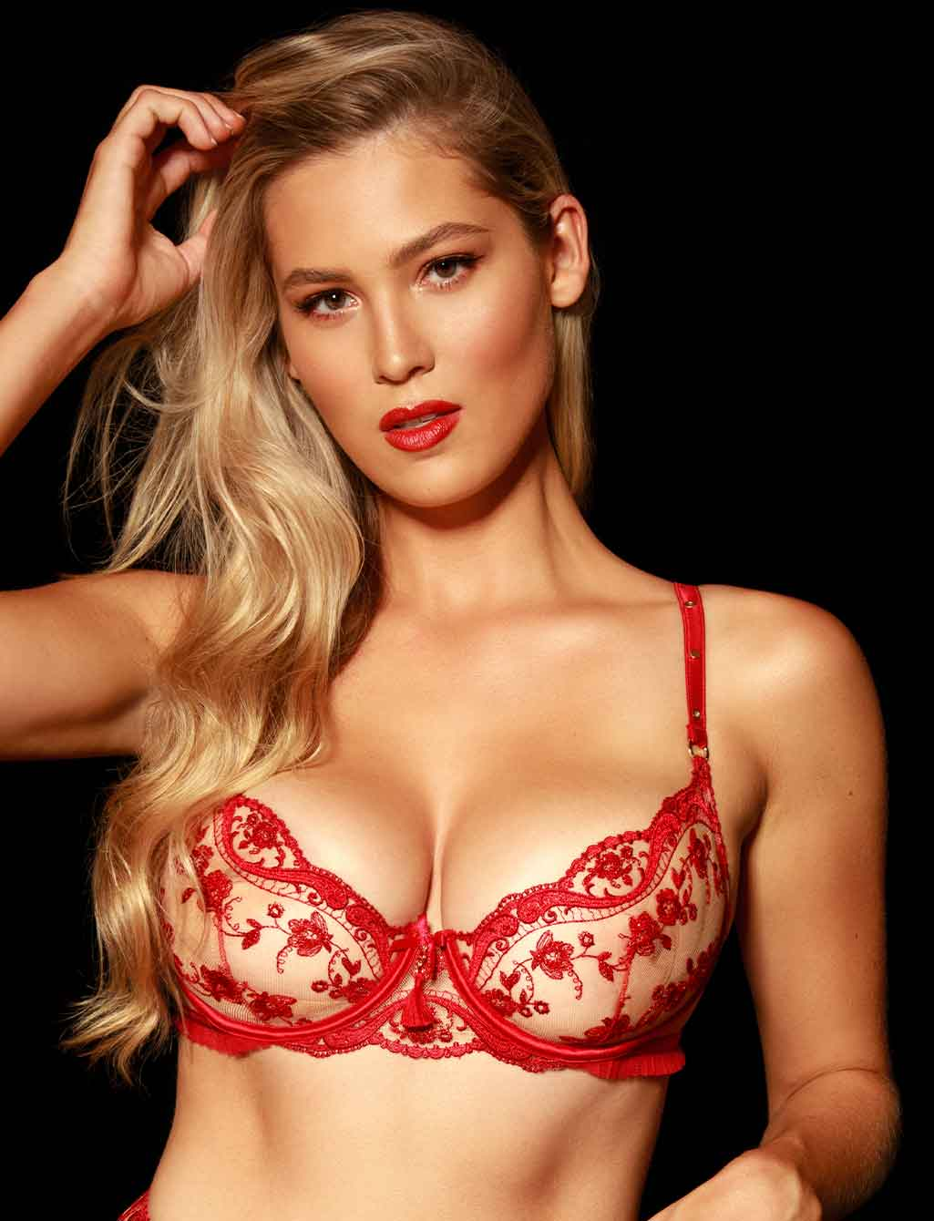 Frida Red Lace Underwire Bra - Shop Lingerie | Honey Birdette