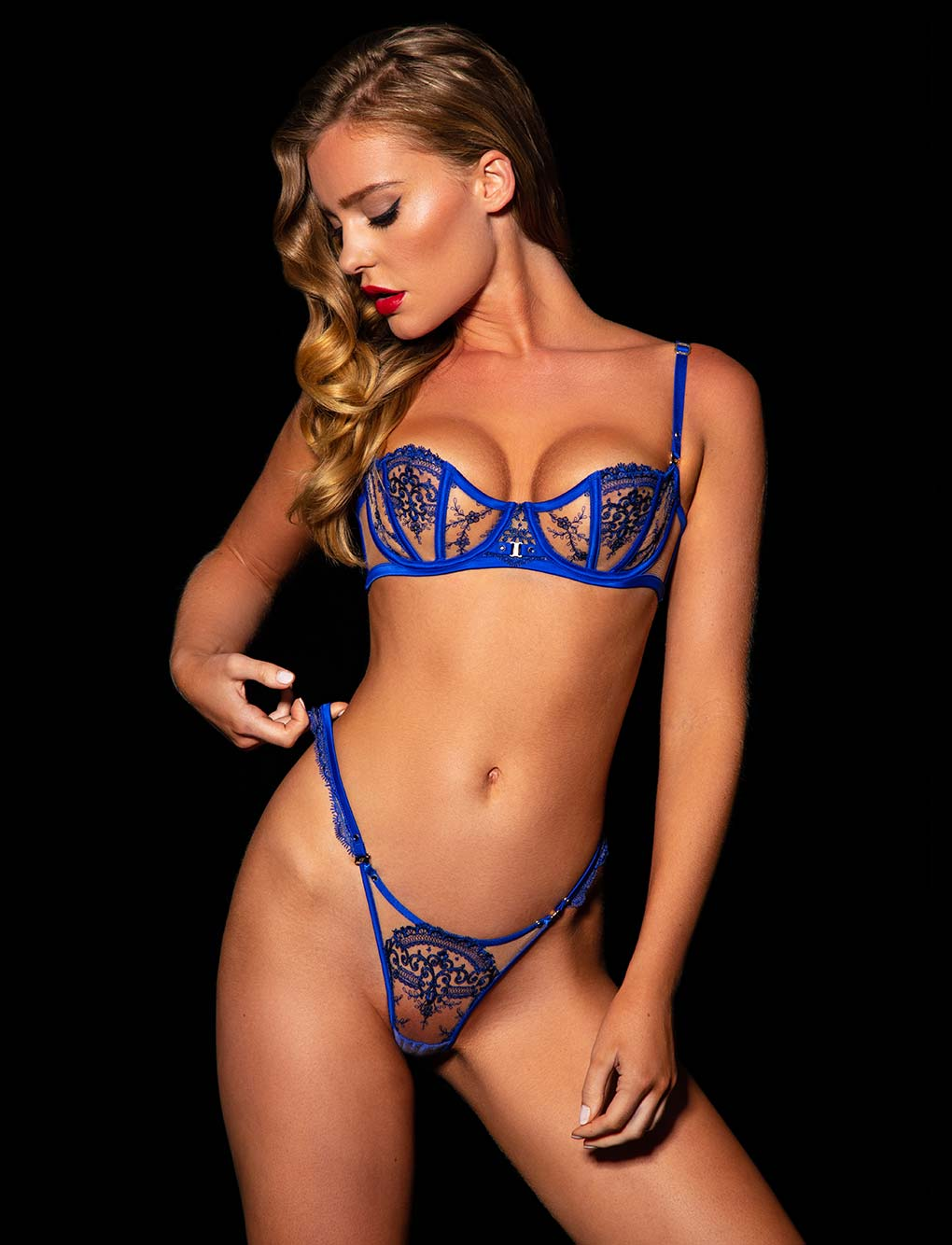 Gabrielle Blue Bra & Bottoms Set
