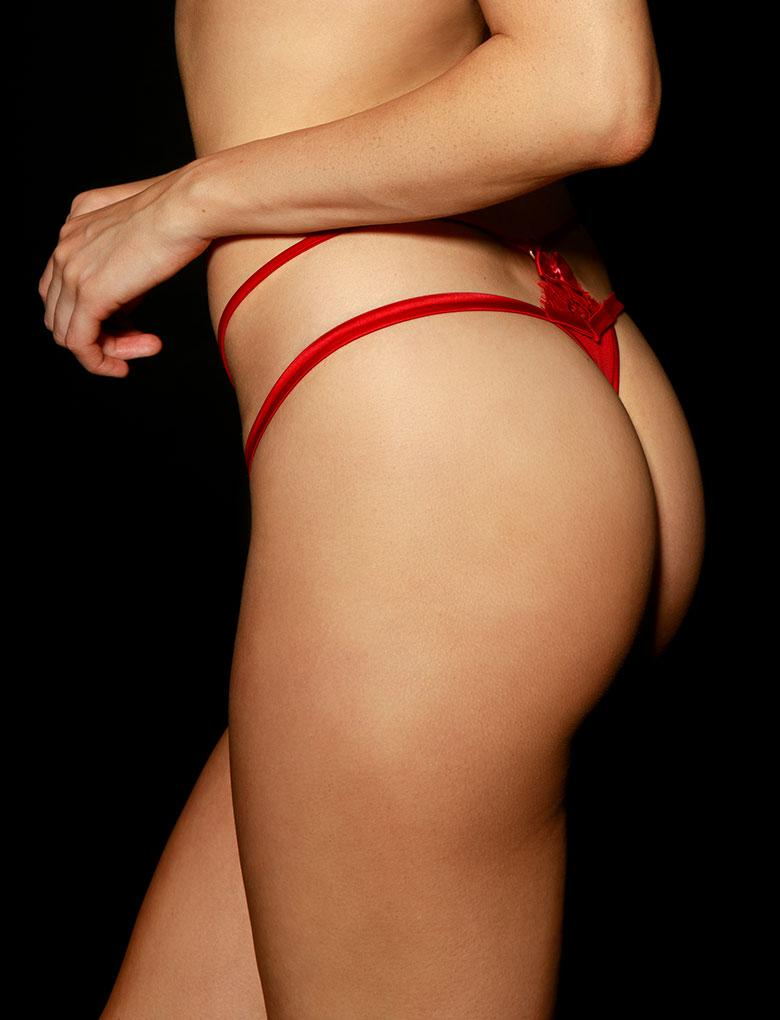 Jessica Red Thong