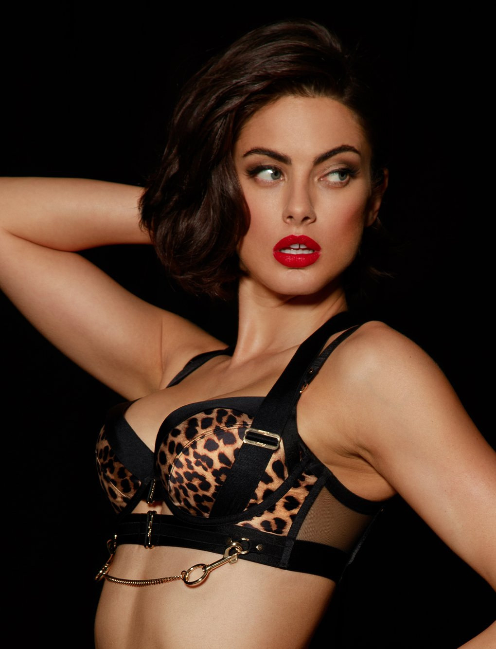 Kukuro Leopard Push Up Bra | Shop Bras | Honey Birdette