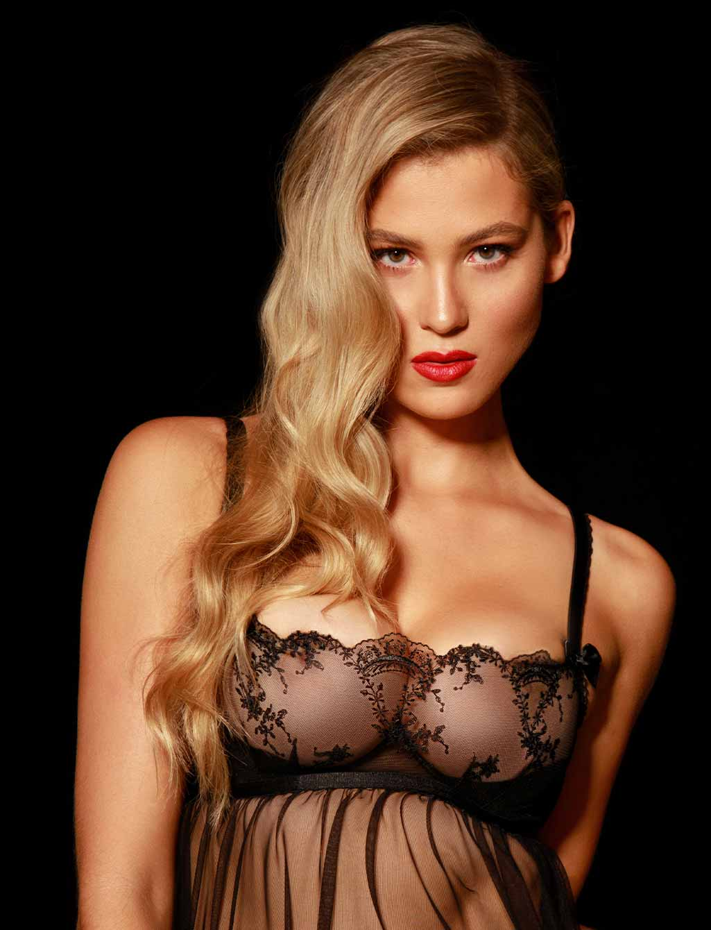 Layla Black Lace Babydoll Chemise| Shop  Lingerie Honey Birdette