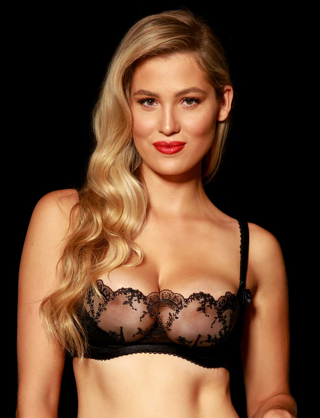 Layla Black Lace Babydoll Underwire Bra | Shop  Lingerie Honey Birdette
