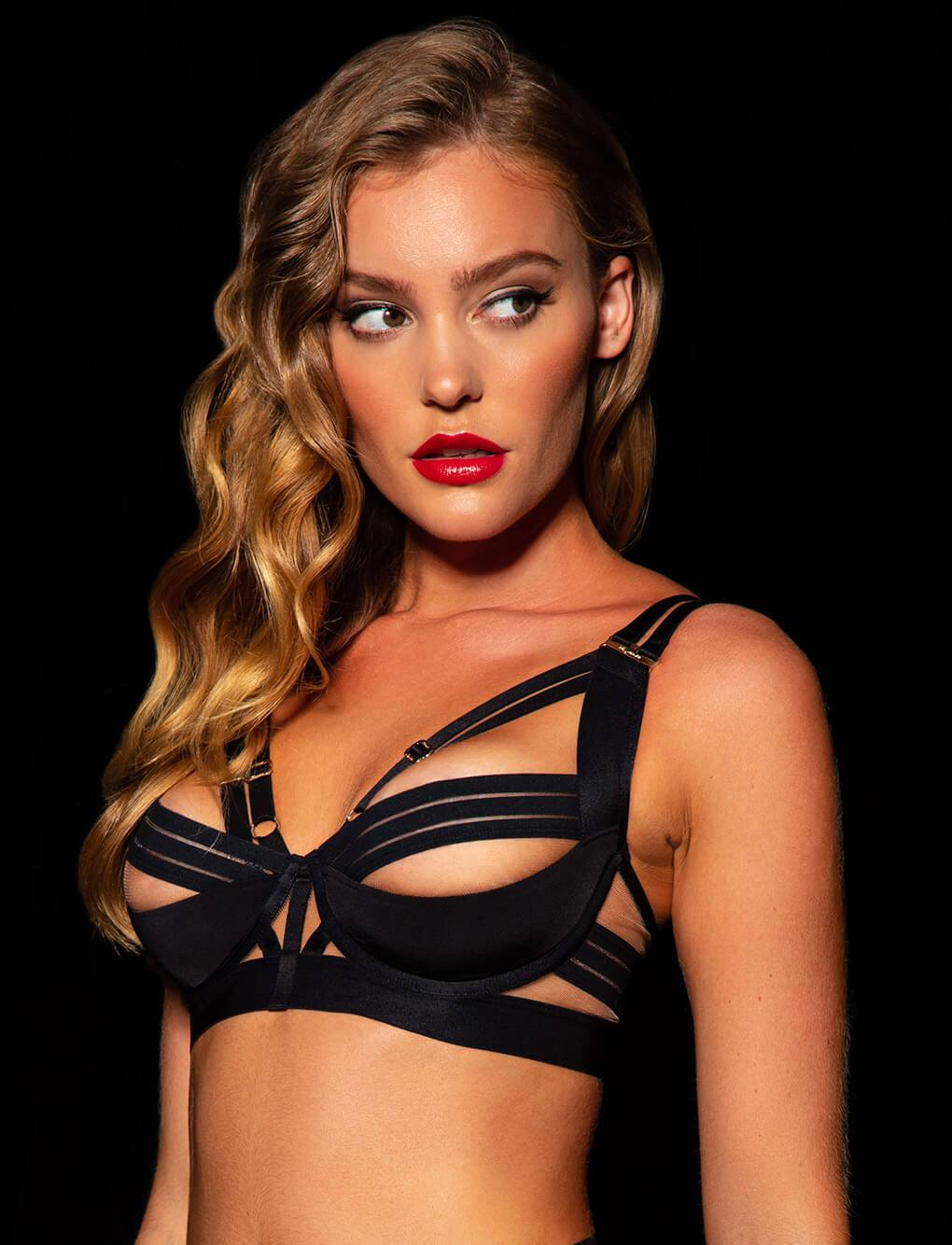 Linda C Black Bra | Shop Bras | Honey Birdette