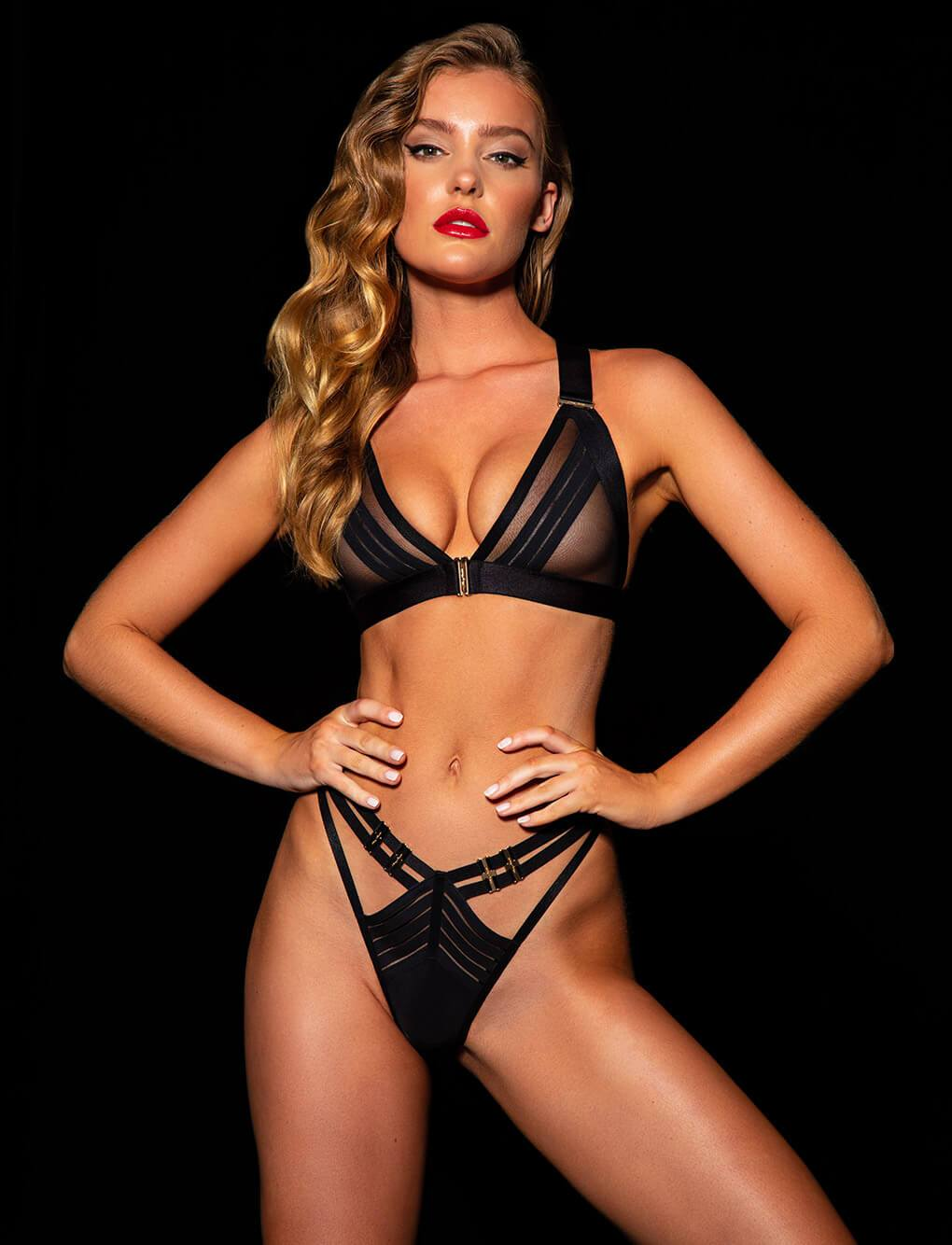 Linda C Black Thong | Shop Thong & G Strings | Honey Birdette