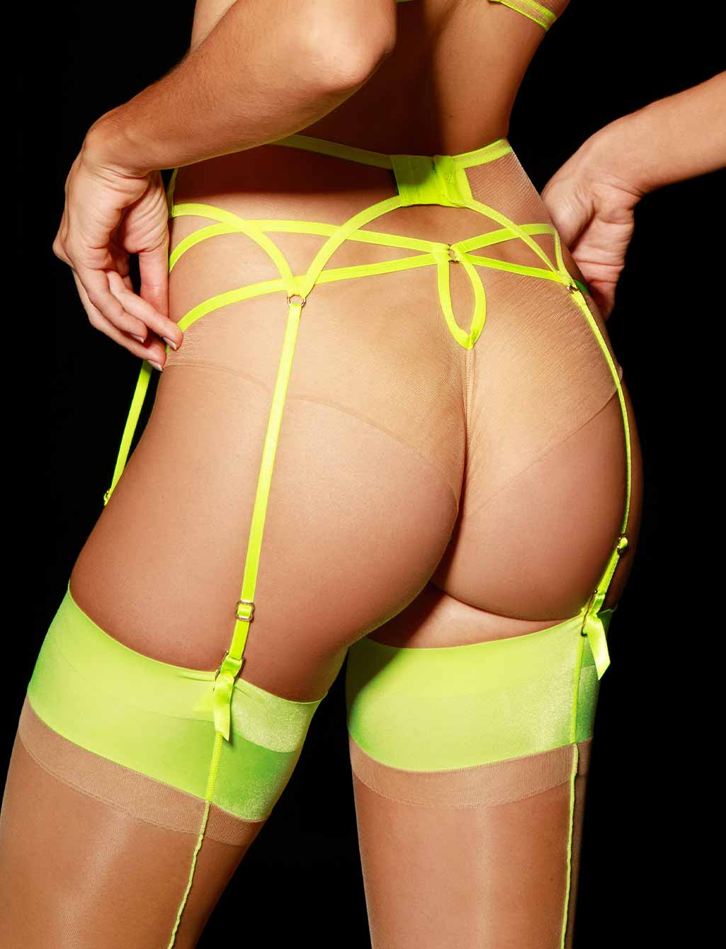 Lyndl Neon Suspender - Shop Lingerie | Honey Birdette