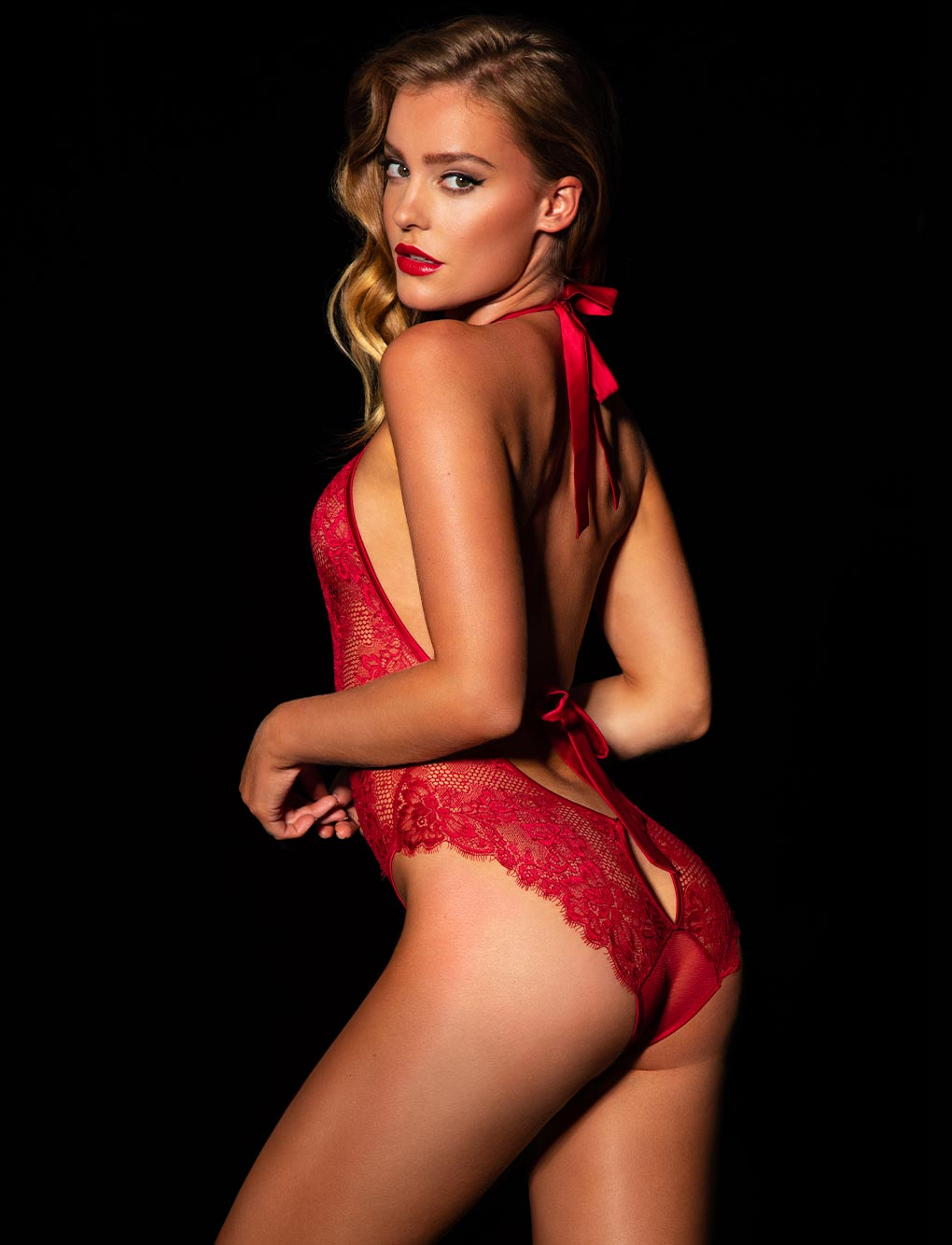Madame Red Bodysuit Set