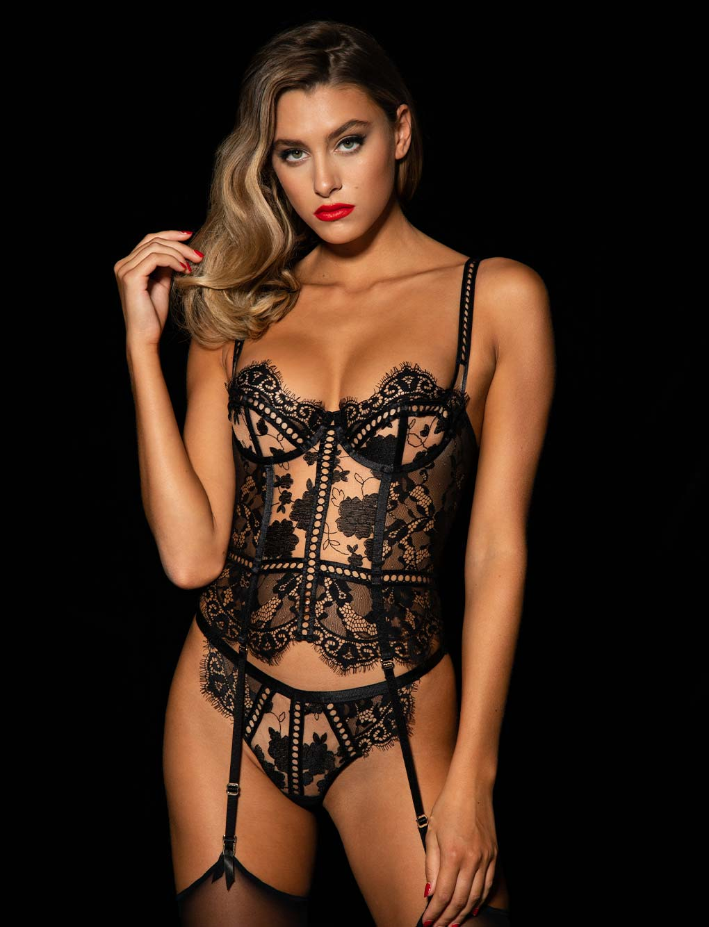 Molly Black Bustier