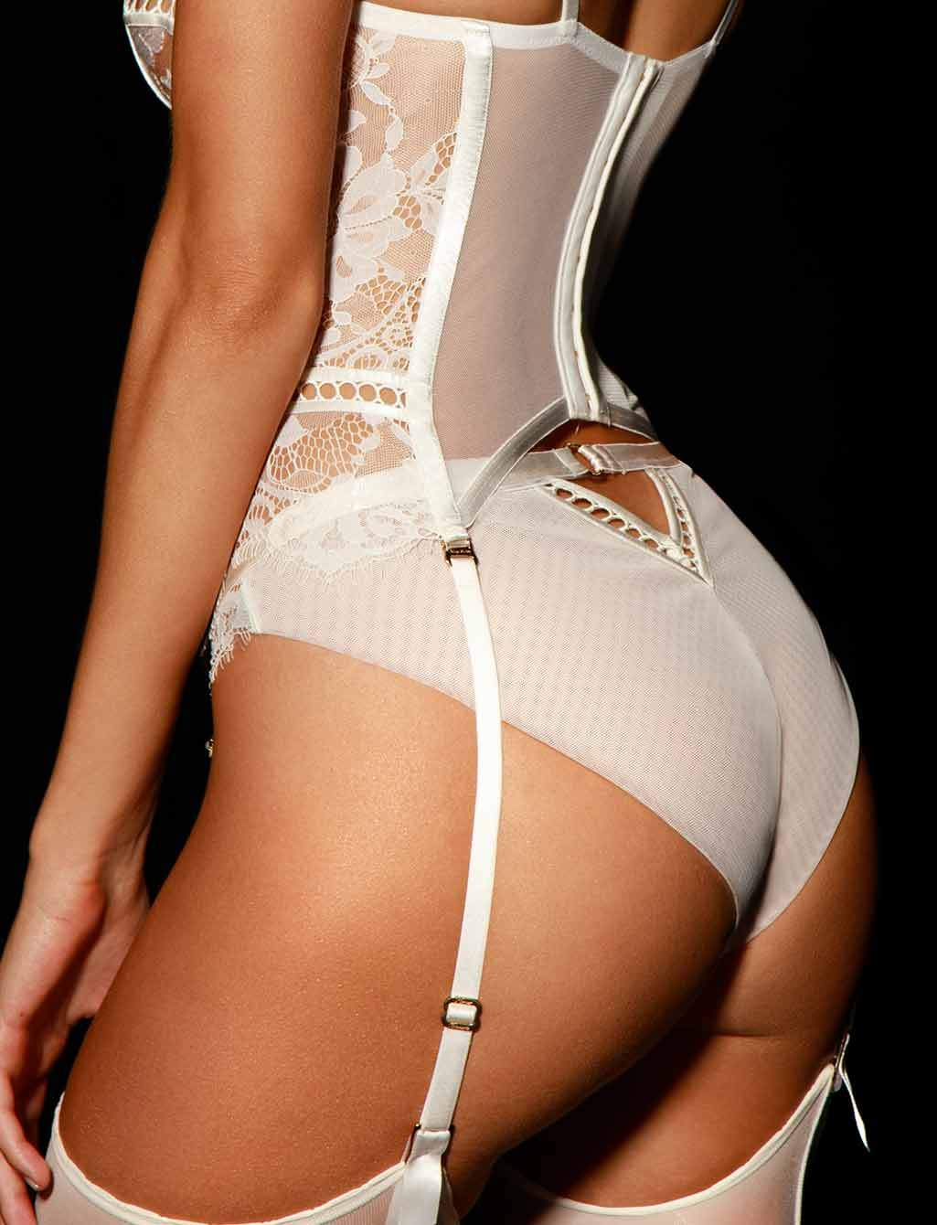 Molly Ivory Bustier Corset Honey Birdette