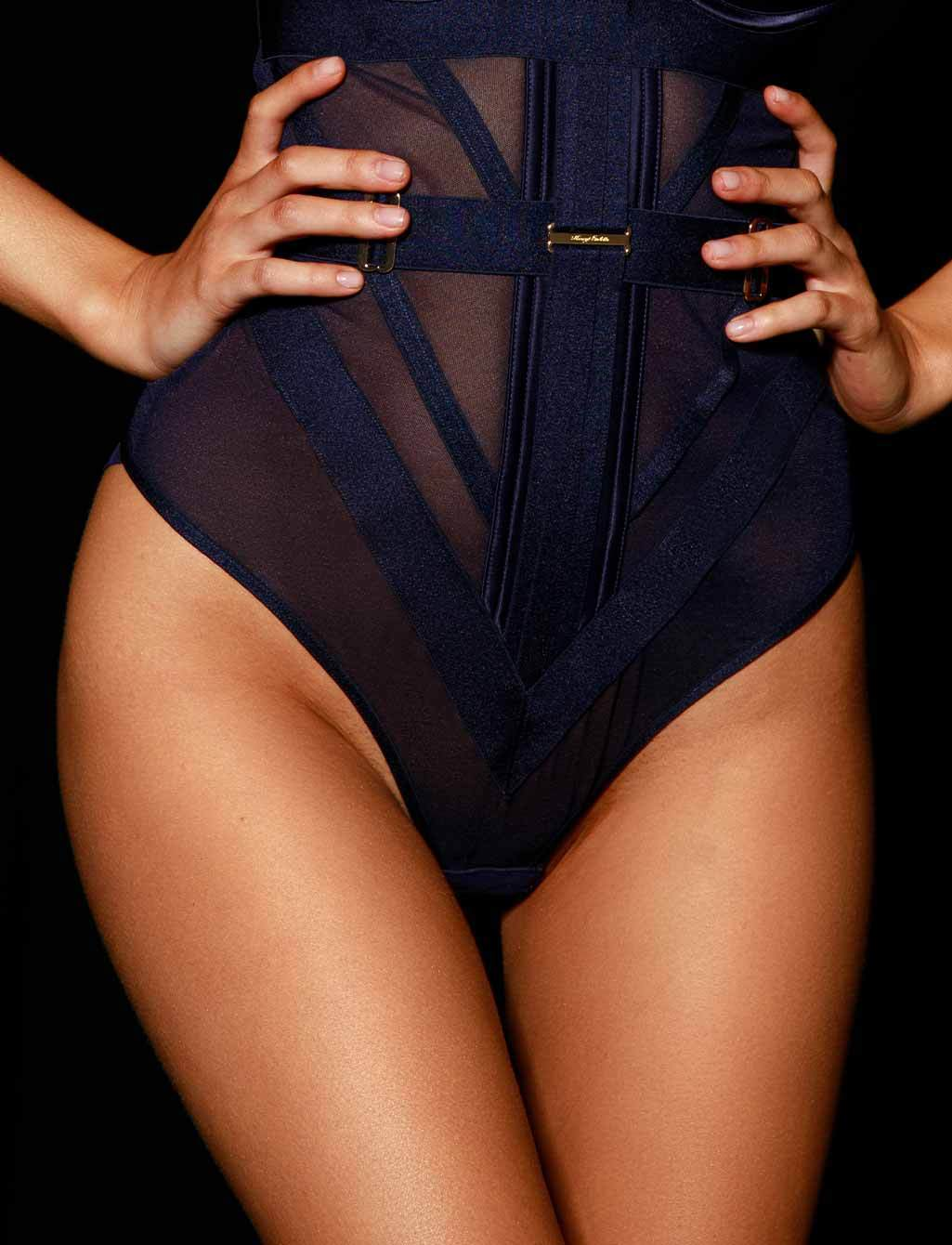Elvis Navy Bodysuit - Shop Bodysuits | Honey Birdette
