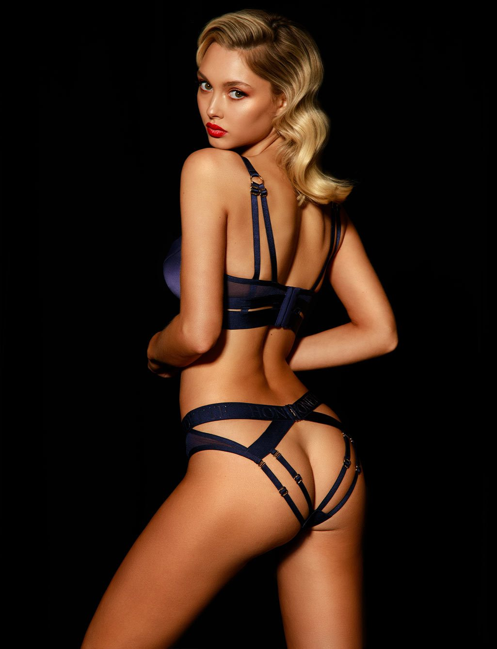 Elvis Navy Brief - Shop Lingerie | Honey Birdette