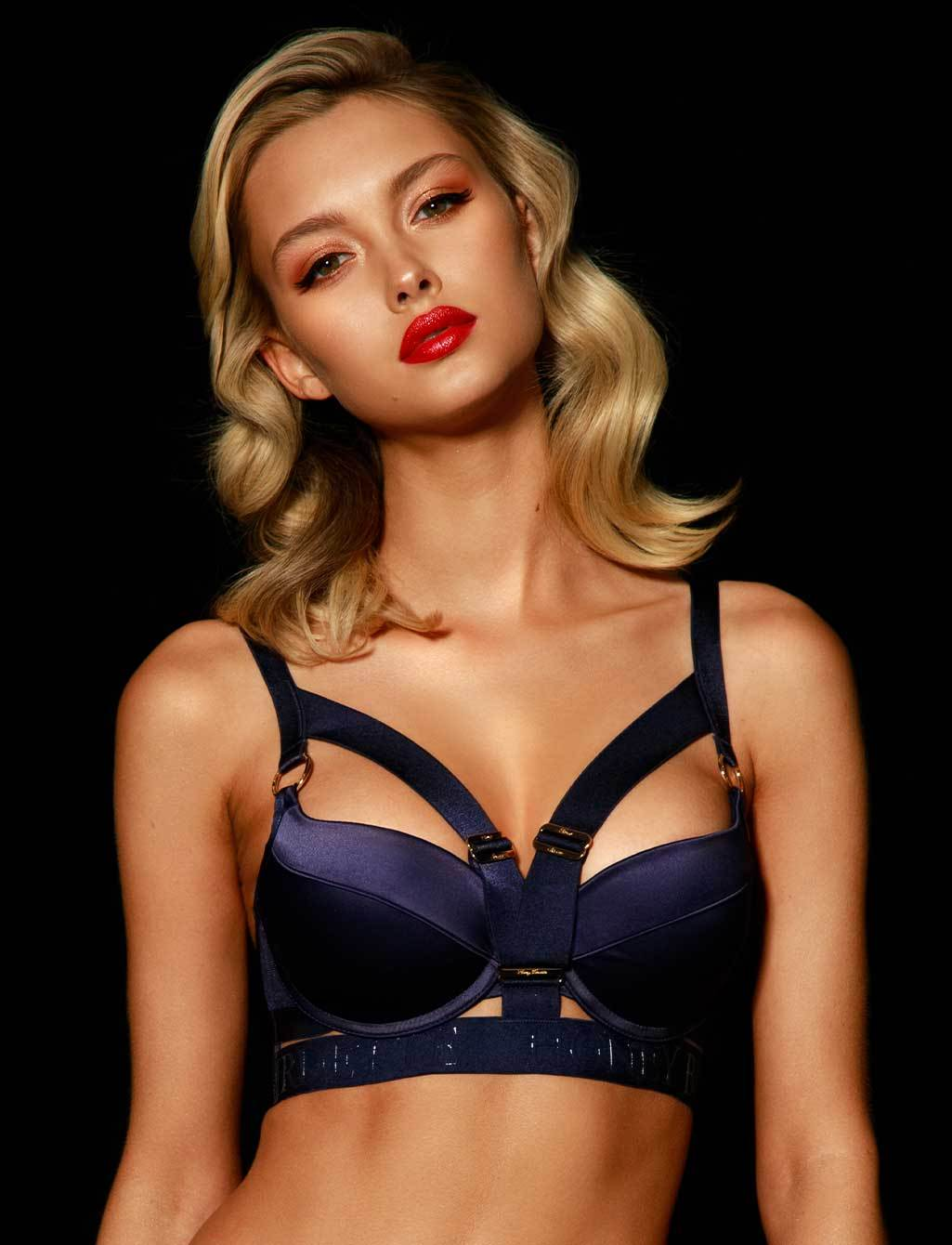 Navy Push Up Bra Elvis Honey Birdette