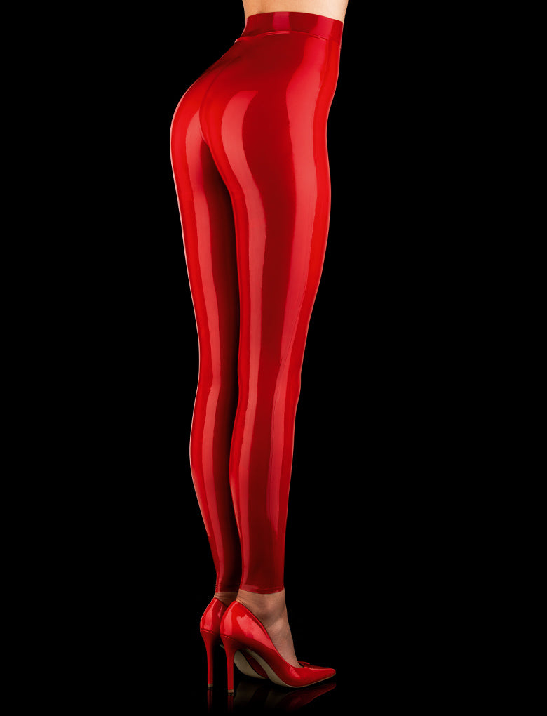 Latex Red Leggings