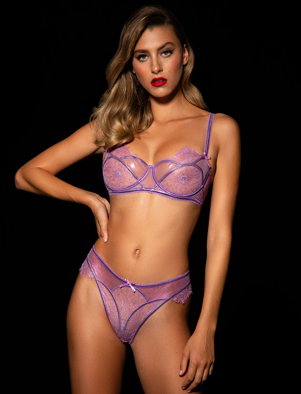 Roisin Lilac Bra & Bottoms Set