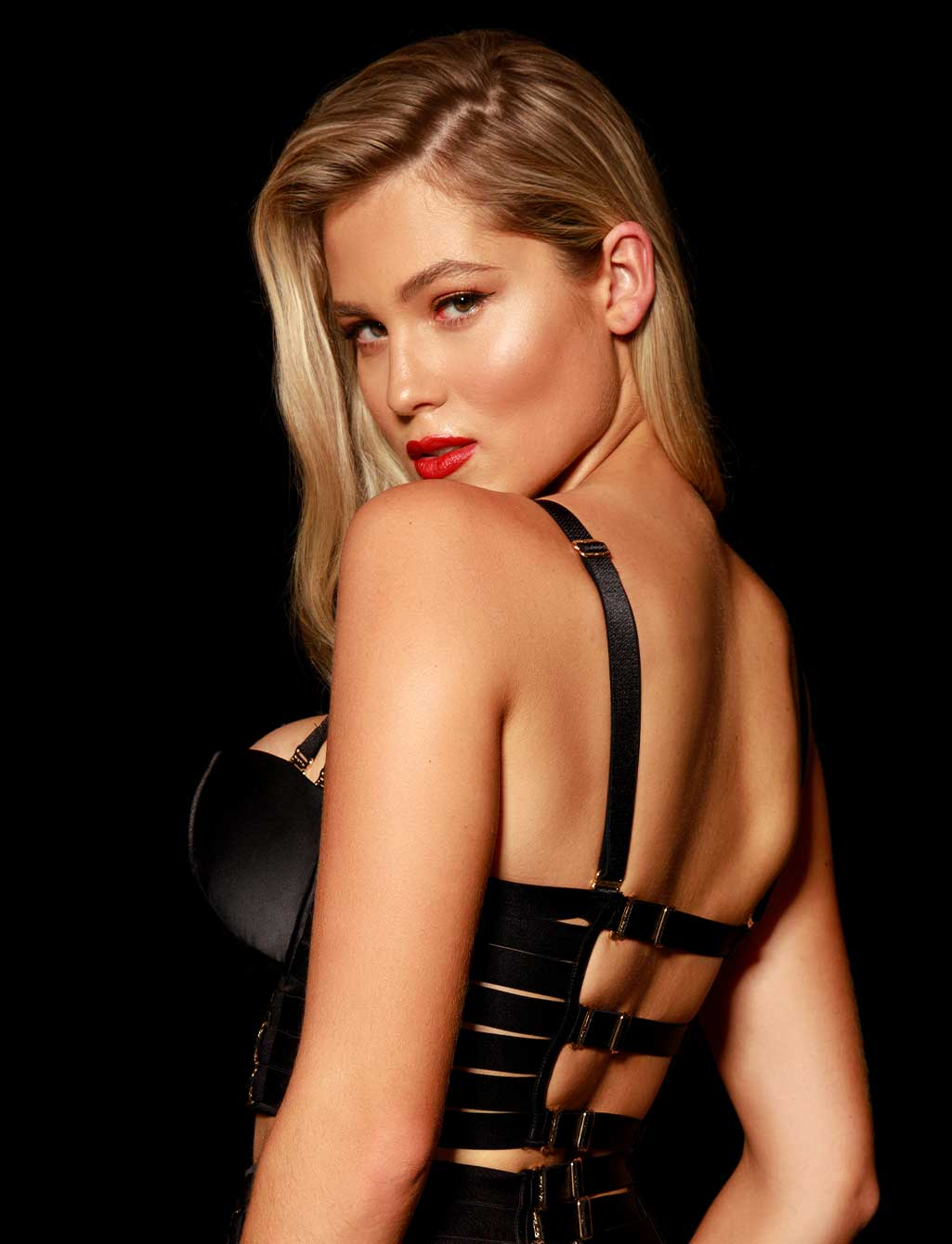 Stevie Black Push Up Bra | Shop  Lingerie Honey Birdette