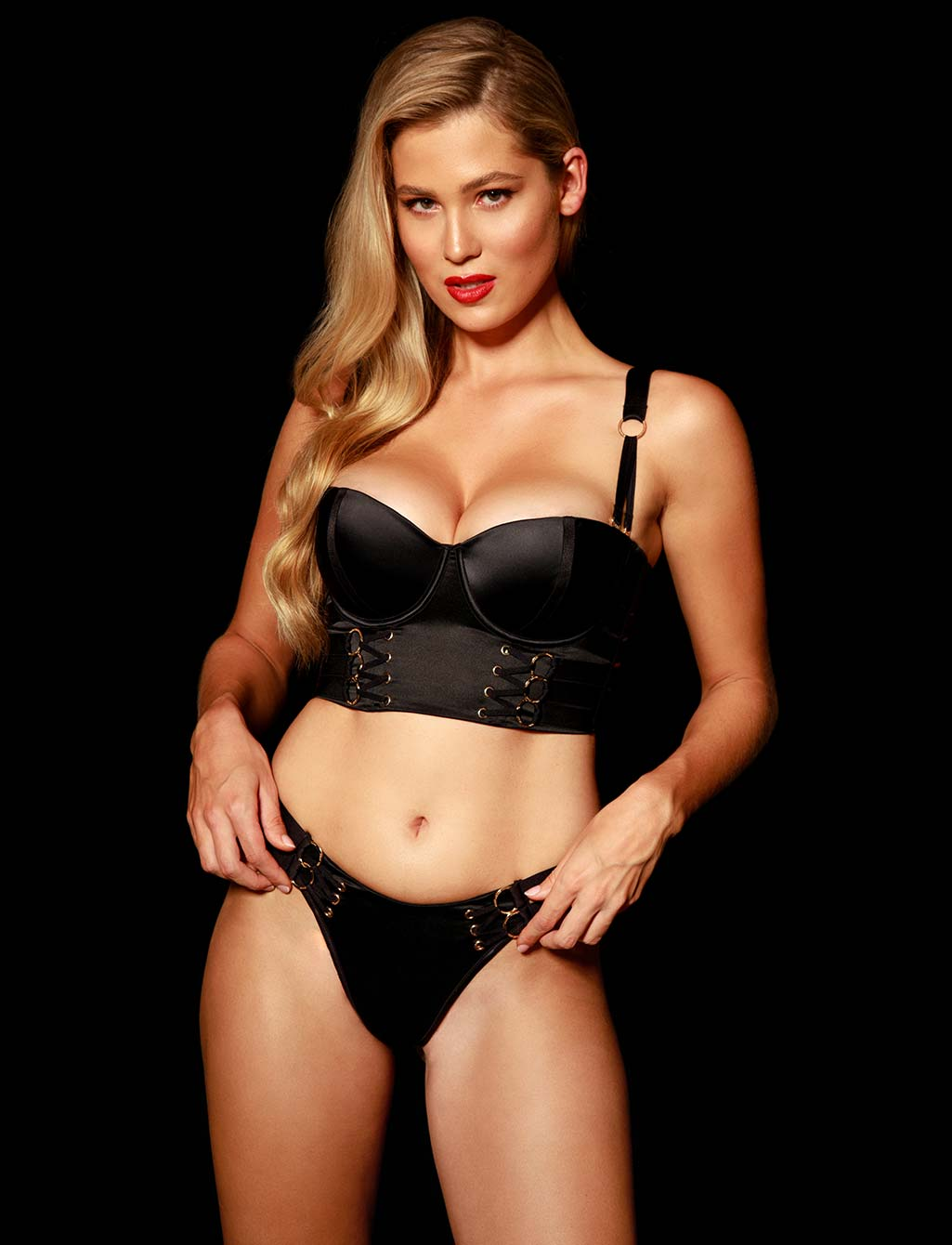 Stevie Black Thong | Shop  Lingerie Honey Birdette