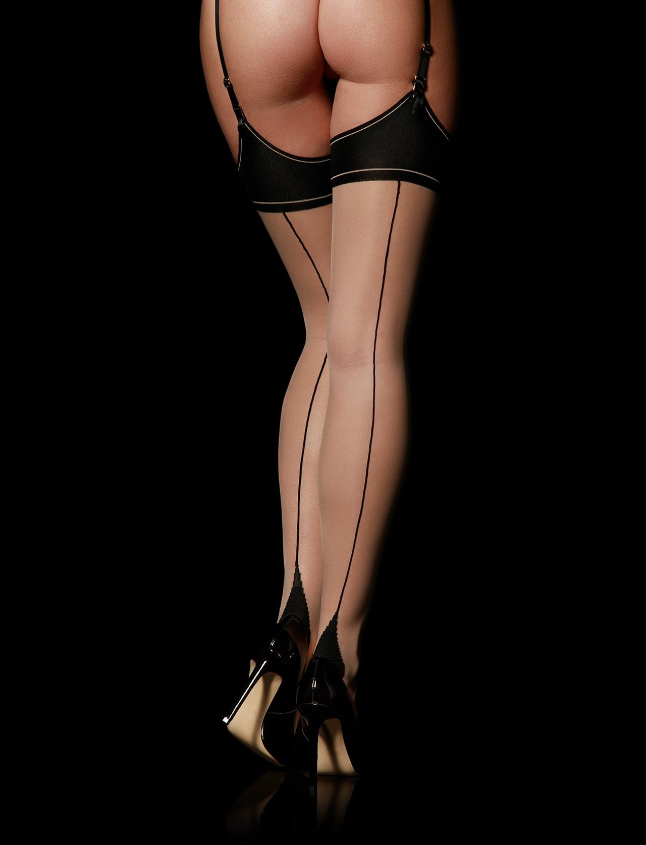 Classics Champagne Suspender Stockings