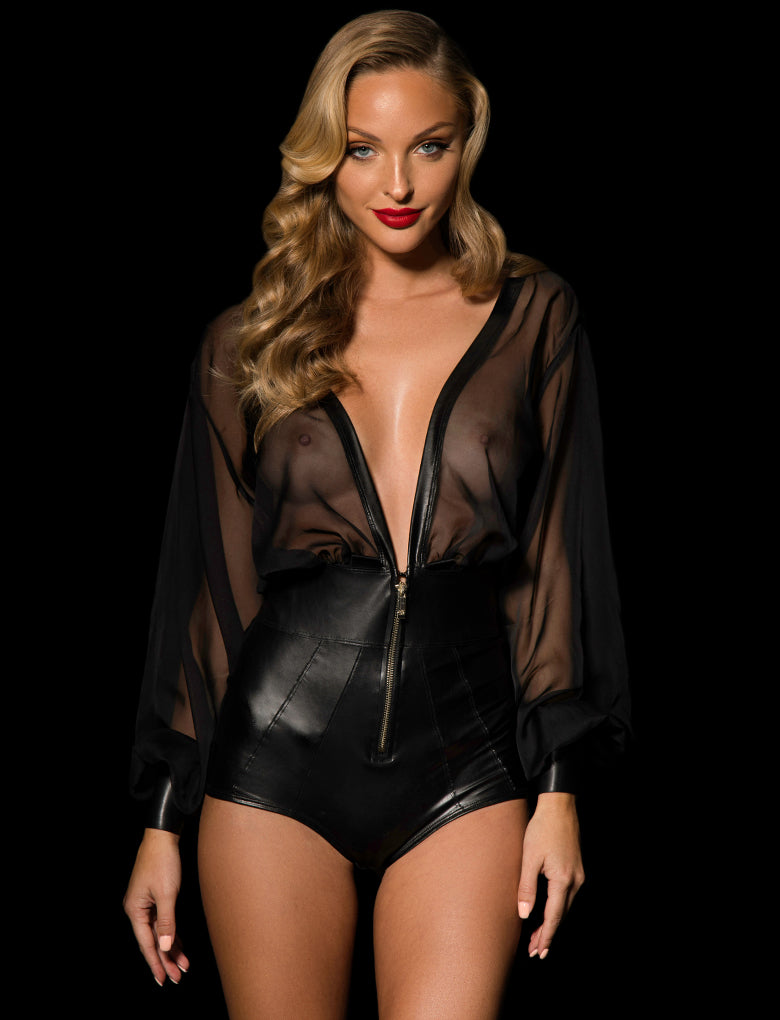 Fonda Playsuit Black