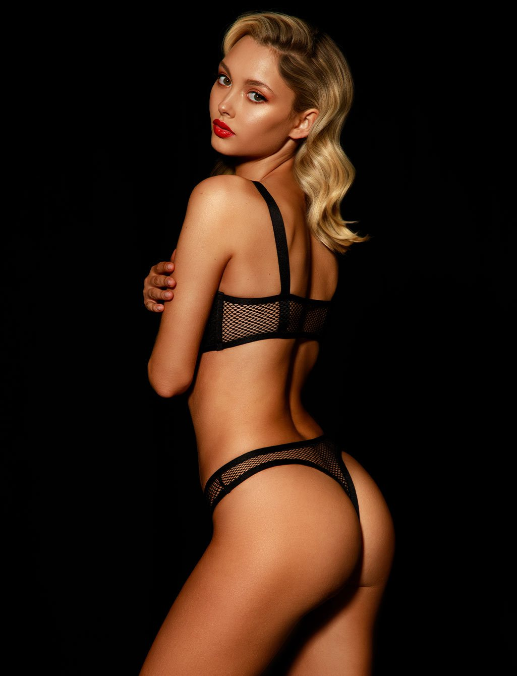 Tash Black Thong - Shop Thongs & G Strings |  Honey Birdette