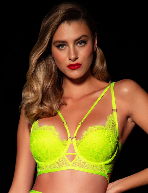Vanessa Neon Yellow Bra & Bottoms Set