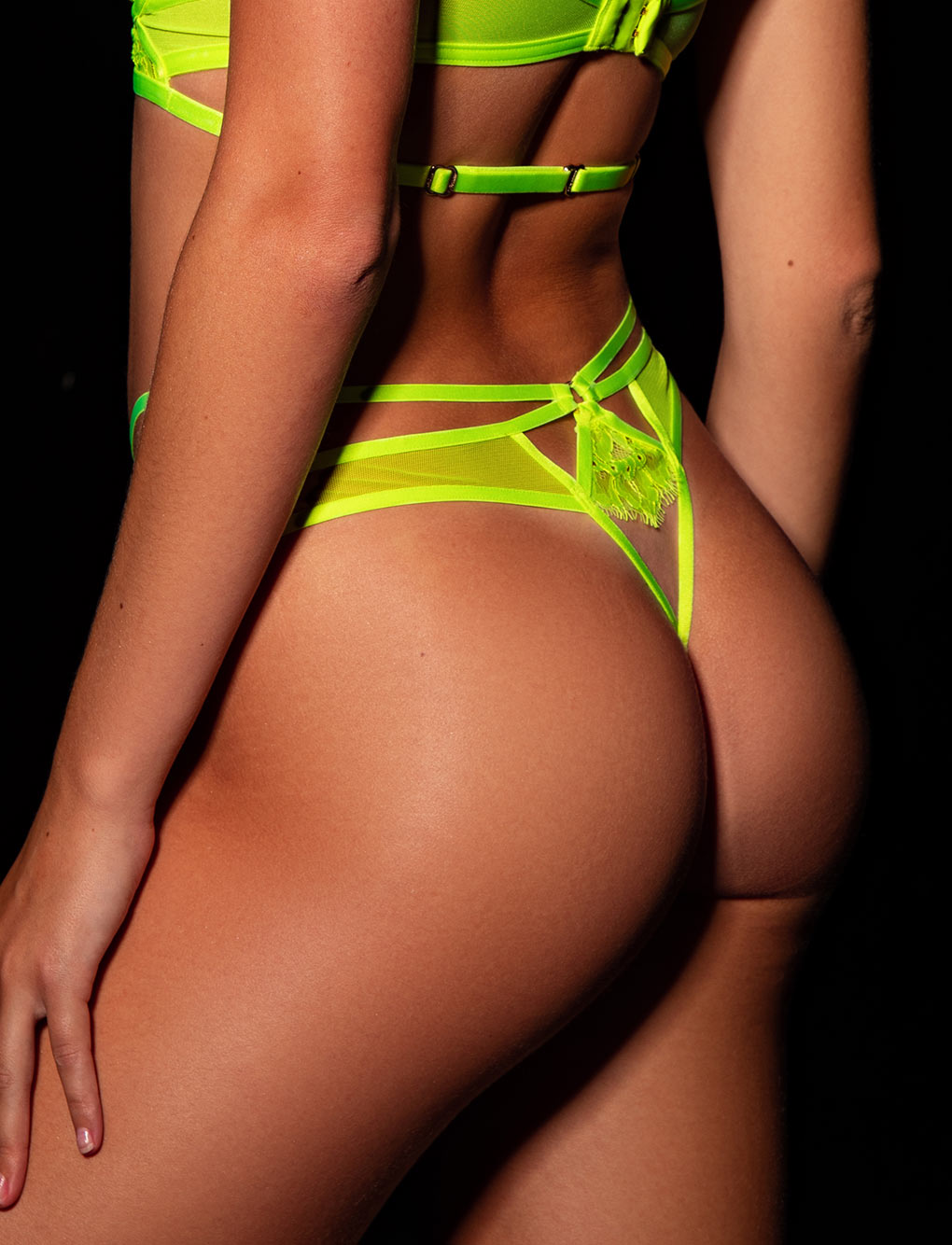 Vanessa Neon Yellow Thong
