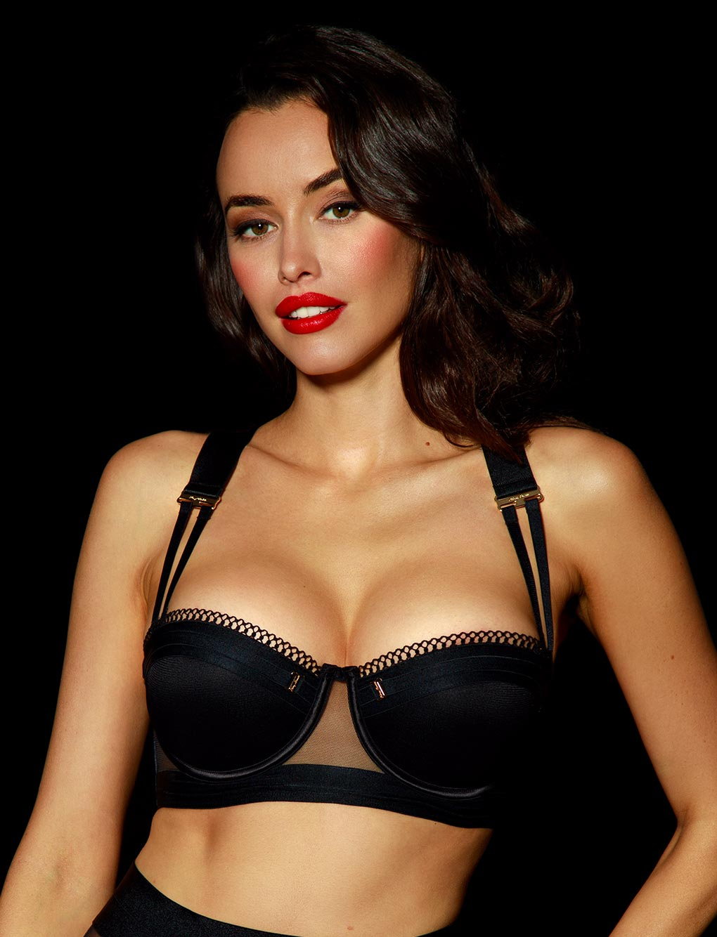 Vienna Black Push Up Bra - Shop Lingerie | Honey Birdette