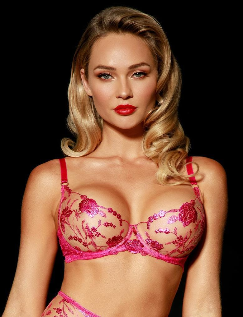 Whitney Pink Bra & Thong Set