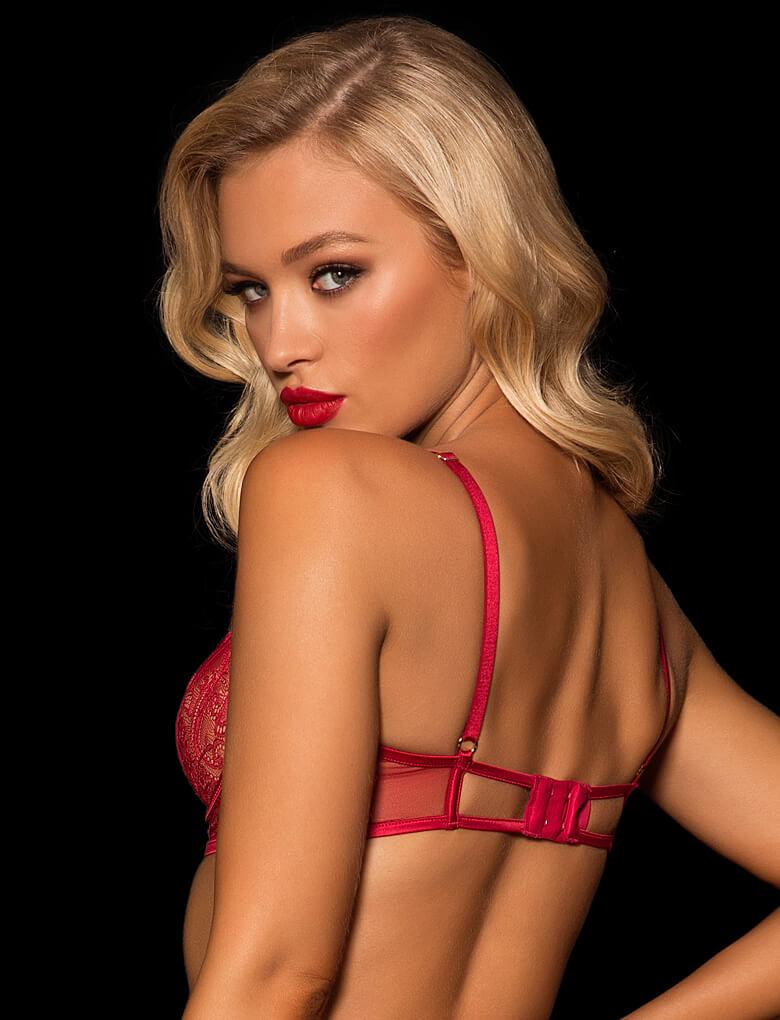 Issy Red Lace Underwire Bra - Shop Lingerie | Honey Birdette