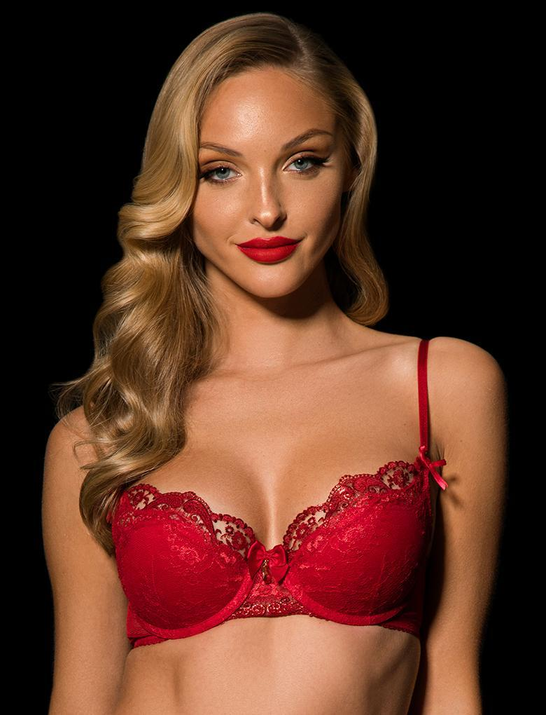 Penelope Demi Cup Bra - Shop Lingerie | Honey Birdette