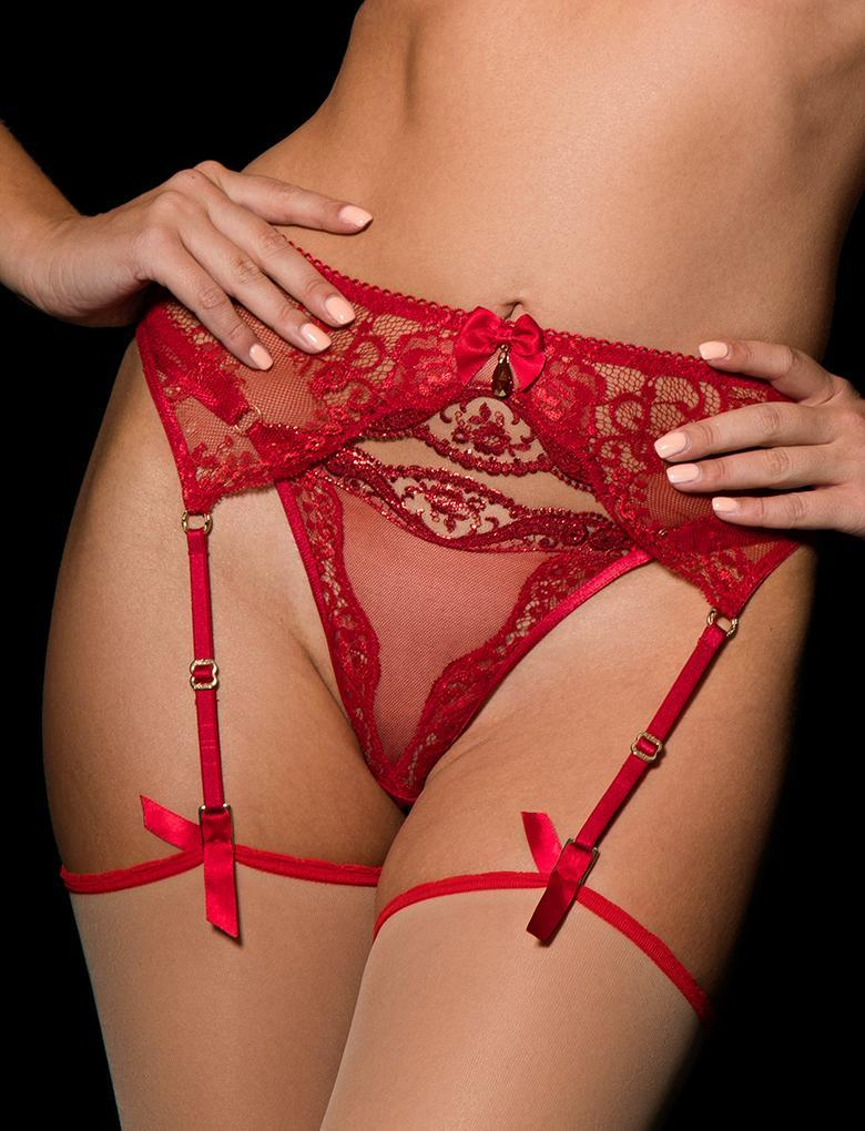 Penelope Suspender - Shop Lingerie | Honey Birdette