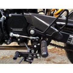 Honda Grom Full Rearset Kit, Standard Shift, W/Pedals, Black