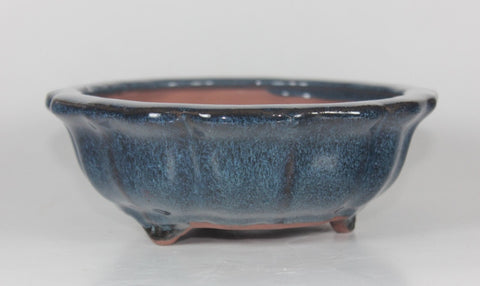 Glazed Bonsai Pot 9.5 inch Round    (G9-067B)