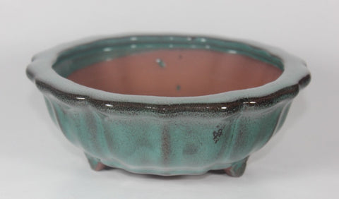 Glazed Bonsai Pot 6 inch Round    (G6-067GN)