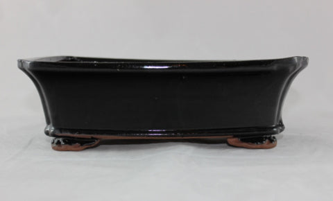 Glazed Bonsai Pot (G10-11BLK)