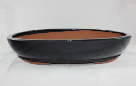 "Glazed Bonsai Pot 17"" Oval    (G17004)"