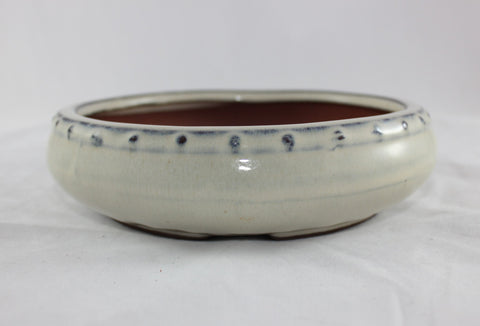"Glazed Bonsai Pot 6"" Round    (G601BE)"