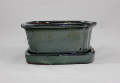 Glazed Bonsai Pot (GR6B-02GRN)