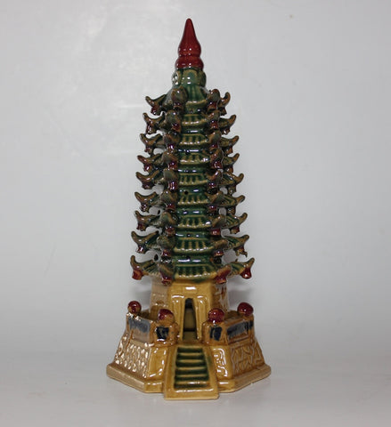"Glazed Figurine Pagoda 8"" Tall    (GFT-3)"