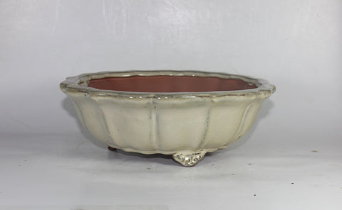 Glazed Bonsai Pot 9.5 inch Round    (G9-067CR)