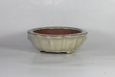 Glazed Bonsai Pot 6 inch Round    (G6-067CR)