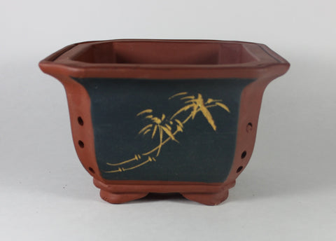 "Unglazed Bonsai Pot or Cascade Pot 6.75"" x 4""  (UGC-201)"