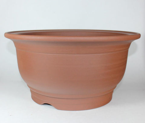 "14"" Unglazed Bonsai Pot - Round  (UG-017B2)"