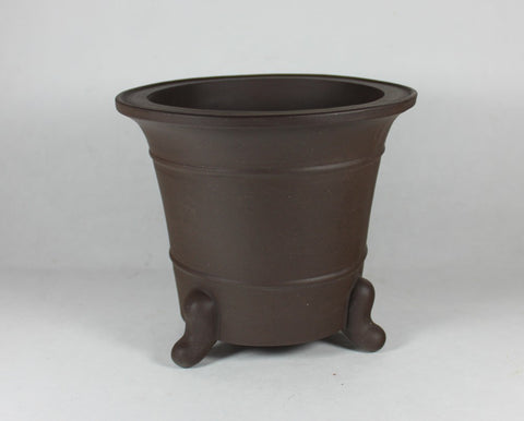 "Unglazed Cascade Bonsai Pot 6.5""x6""    (UGMN-1012B)"