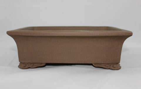 "Unglazed Bonsai Pot 10""     (UGR10-09B)"