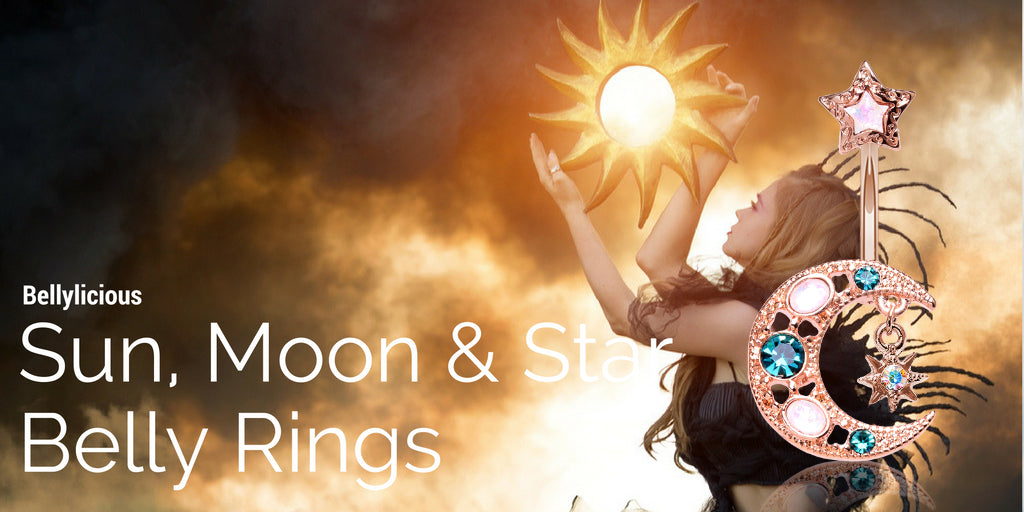Sun Moon and Stars Belly Rings